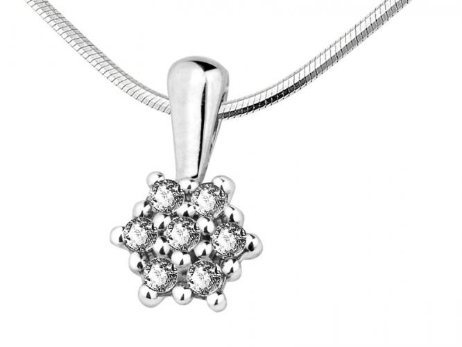 White gold pendant with brilliants
