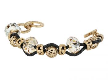 Bracelet with brass and crystal