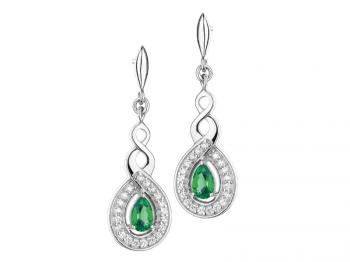 Earrings with cubic zirconias