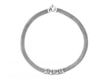 Silver necklace with cubic zirconias