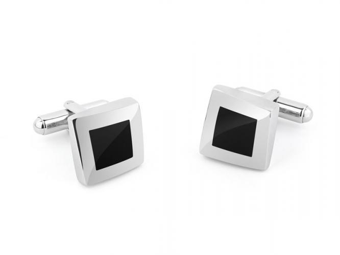 Silver cufflinks with gemstones