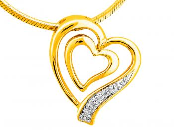 Yellow gold pendant with brilliants