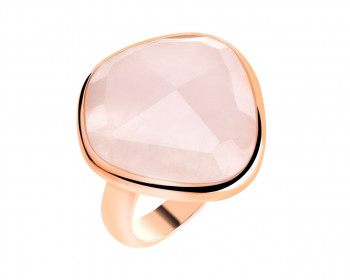 Brass ring with quartz