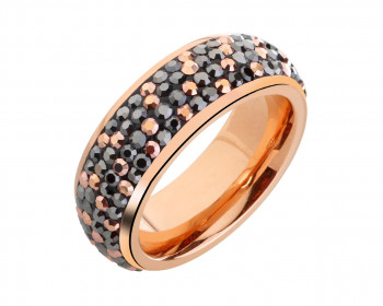 Stainless Steel Marcasite Pave Ring