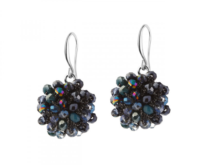 Earrings with Glass
