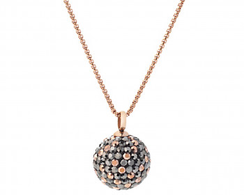 Stainless Steel Necklace with Marcasite