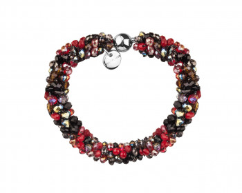 Stainless Steel Bracelet with Glass Beads