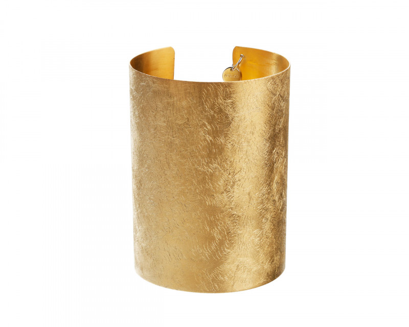 Rhodium-Plated Bronze, Gold-Plated Bronze Bracelet