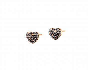 Stainless Steel Earrings with Marcasite