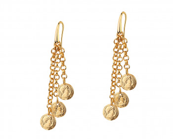 Gold-Plated Bronze Earrings