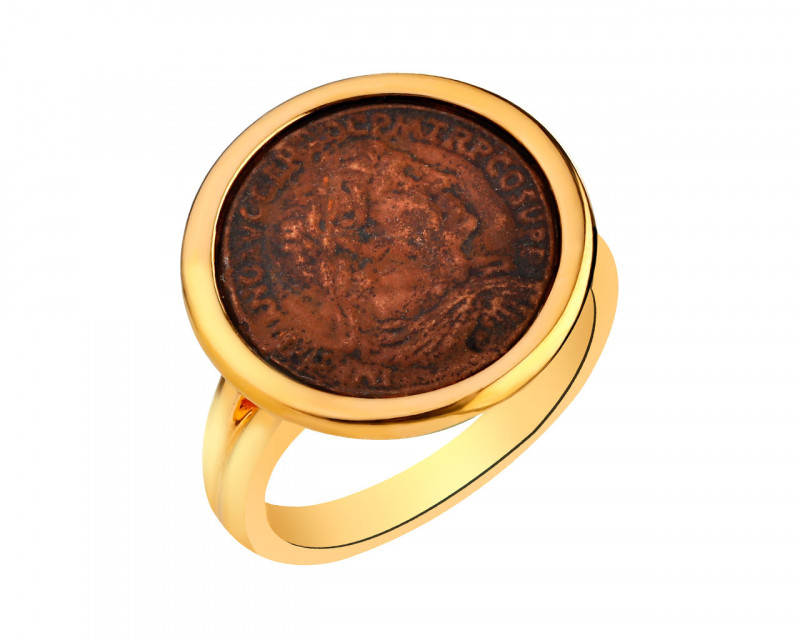 Gold-Plated Bronze Ring