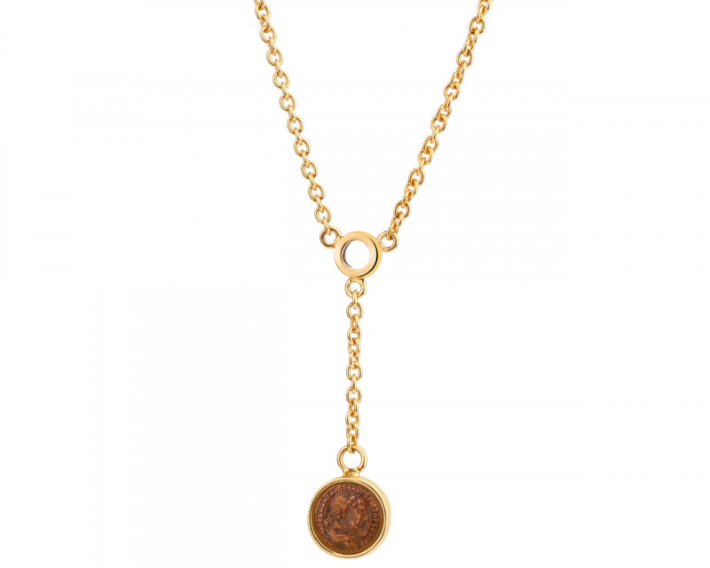 Gold-Plated Bronze Necklace