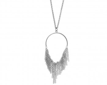 Rhodium-Plated Bronze Necklace