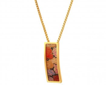 Stainless Steel & Enamel Necklace