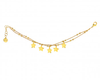 Gold Plated Bronze Bracelet - Stars
