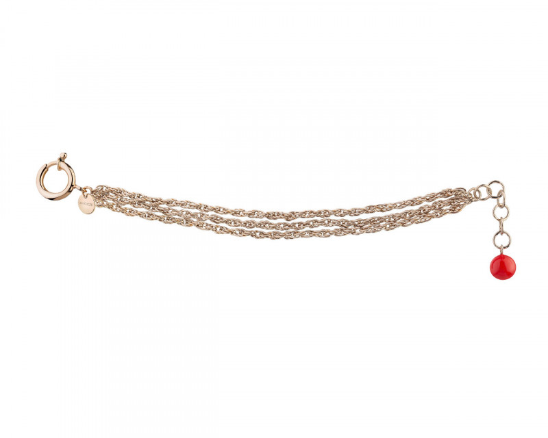 Gold Plated Bronze Champagne Bracelet