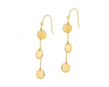 Gold-Plated Brass Earrings
