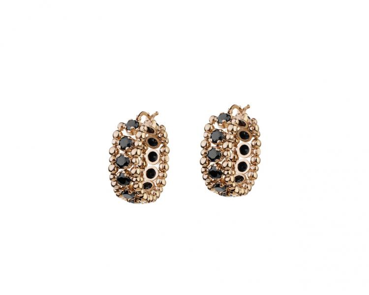 Gold Plated Brass Earrings with Cubic Zirconia