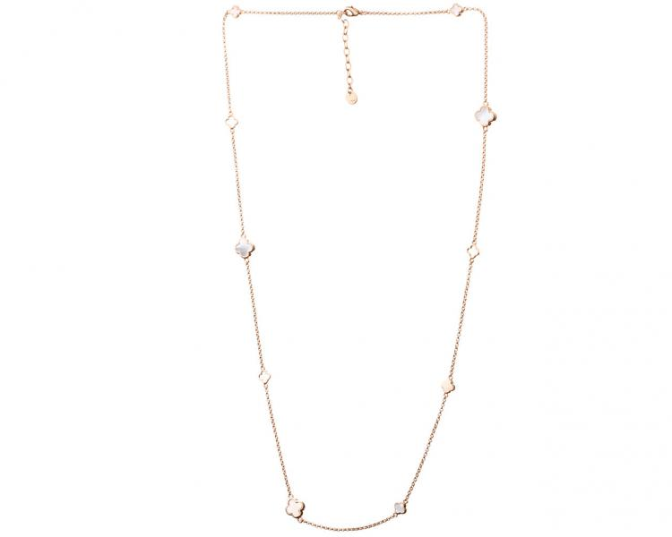 Gold-Plated Brass Necklace with Mother Of Pearl