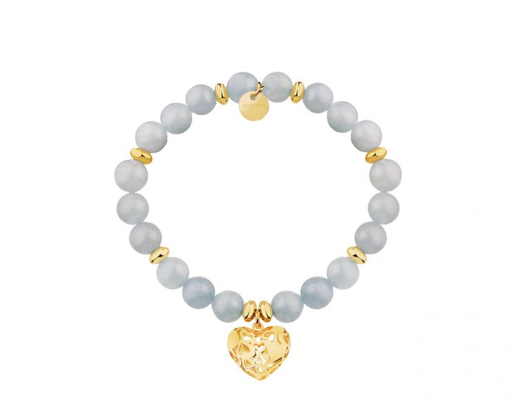Gold-Plated Brass Bracelet with Quartz