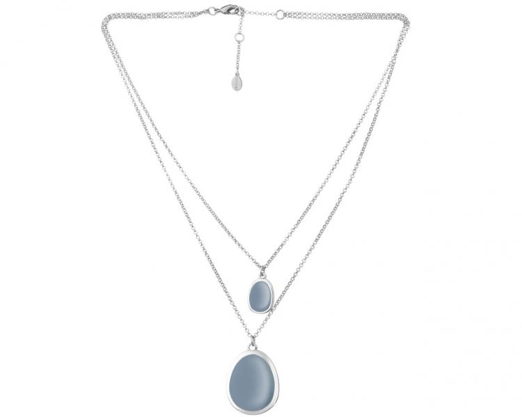 Rhodium Plated Zinc Necklace