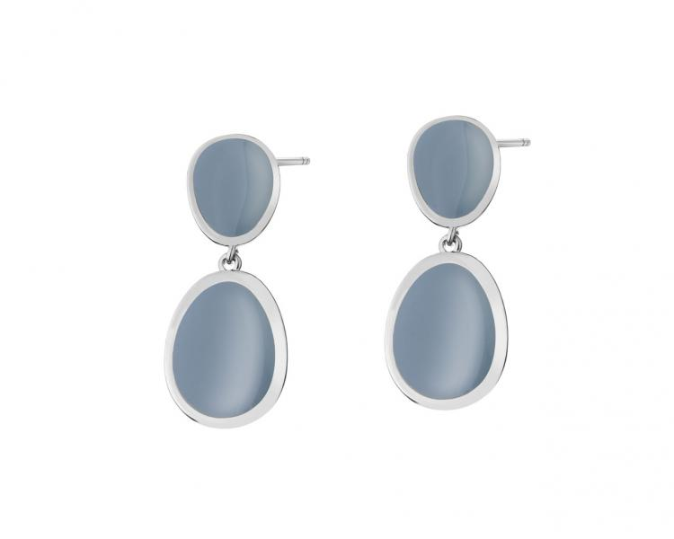Rhodium Plated Zinc Earrings