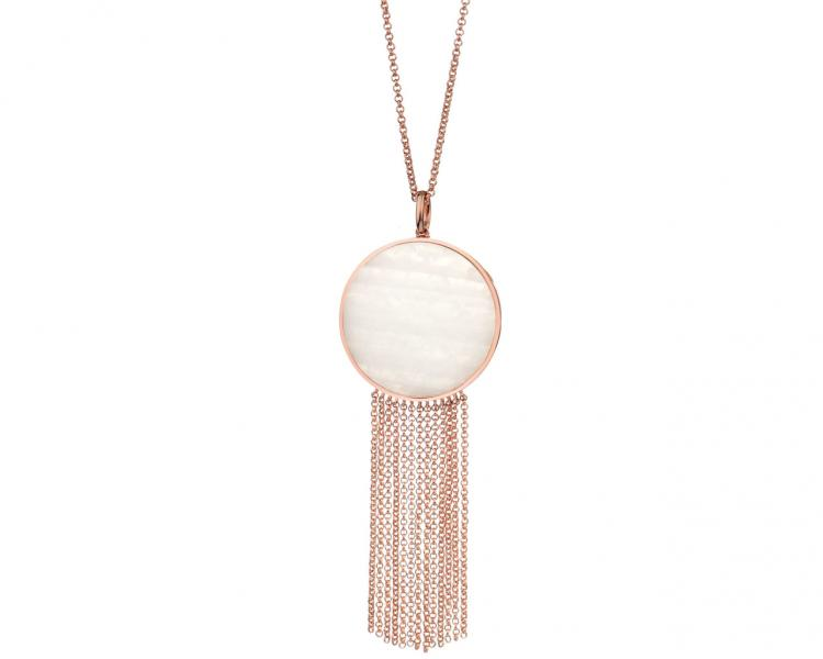 Gold-Plated Brass Necklace with Shell
