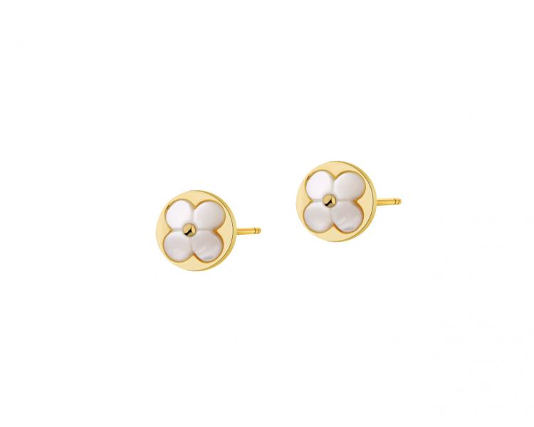 Gold-Plated Brass, Gold-Plated Silver Earrings