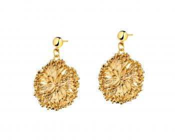 Gold Plated Zinc, Gold Plated Silver Earrings