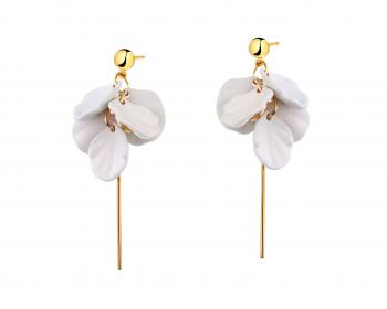Gold-Plated Brass, Gold-Plated Silver, Polyurethane Earrings