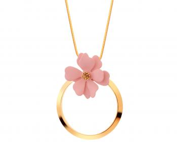 Gold-Plated Brass, Polyurethane Necklace